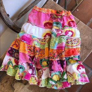 MIMI & MAGGI Cute Boho Madras Summer Skirt Girl 3T